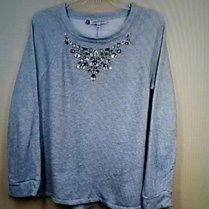 Jennifer Lopez jeweled sweater L